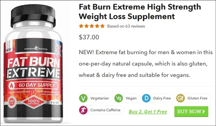 Fat Burn Extreme Australia High Strength Weight Loss Pills